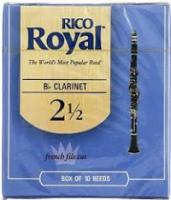 Rico Royal Clarinet Reeds Size 2.5 Box 10 (RRCL2.5BX)